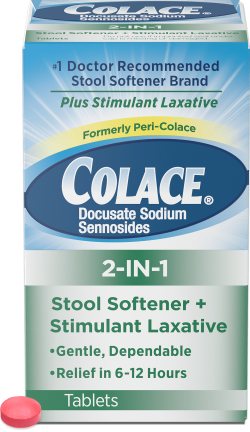 Colace® 2-IN-1 Tablets | Colace® (docusate sodium)